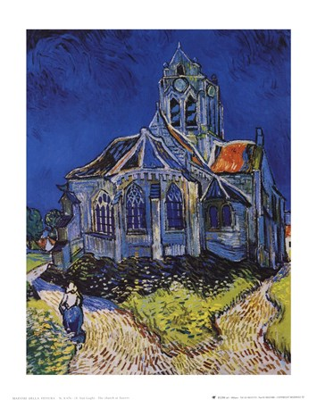 The Church at Auvers, c.1890 by Vincent Van Gogh art print