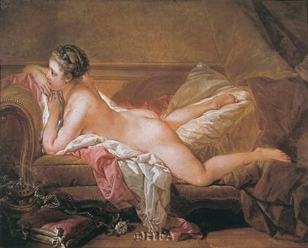 Girl Resting by Francois Boucher art print
