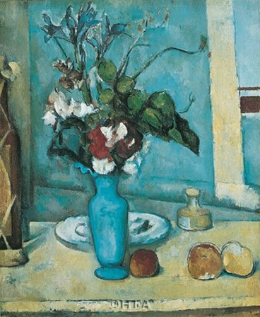 Blue Vase by Paul Cezanne art print