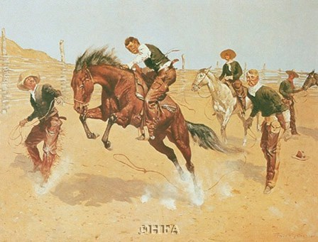 Turn Him Loose, Bill by Frederic Remington art print