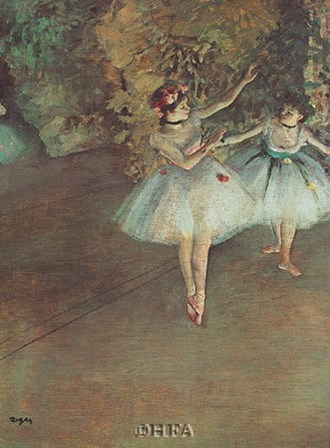 Two Dancers by Edgar Degas art print