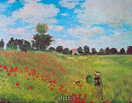 Corn Poppies by Claude Monet art print