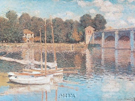 Bridge at Argenteuil by Claude Monet art print