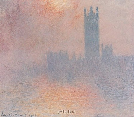 London Houses of Parliament by Claude Monet art print