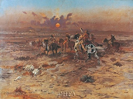 Stolen Horses by Charles M. Russell art print
