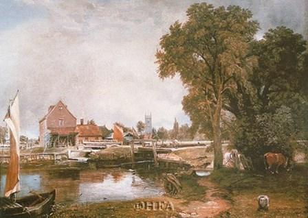 Mill at Dedham by John Constable art print