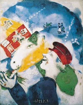 Peasant Life, 1925 by Marc Chagall art print