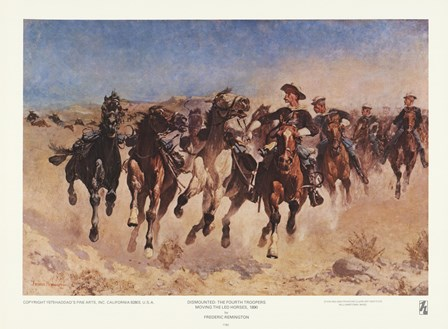 Dismounted: The Fourth Troopers by Frederic Remington art print