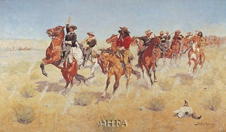 Halt-Dismount by Frederic Remington art print