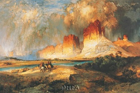 Cliffs of Upper Colorado River by Thomas Moran art print