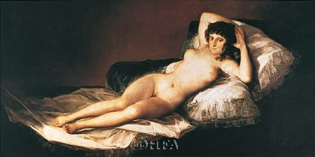 Nude Maja by Francisco De Goya art print