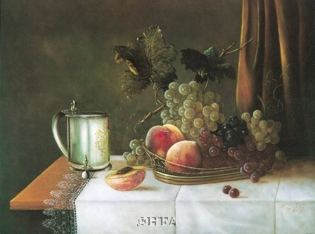 Still Life with Silver Tankard by William Galvez art print