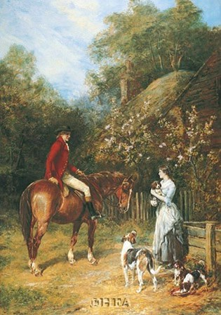 Visit to the Kennels by Heywood Hardy art print