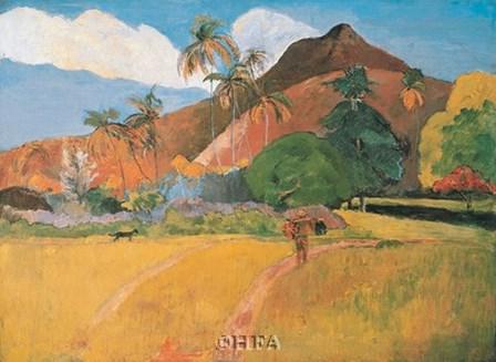 Tahitian Landscape, 1891 by Paul Gauguin art print