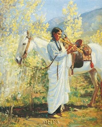 The Flute Player by Bert Phillips art print