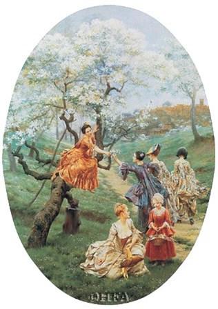 Orchard by Maurice Leloir art print