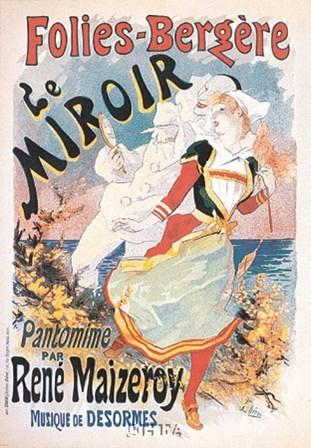 Le Miroir by Jules Cheret art print