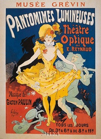 Pantomimes Lumineuses by Jules Cheret art print