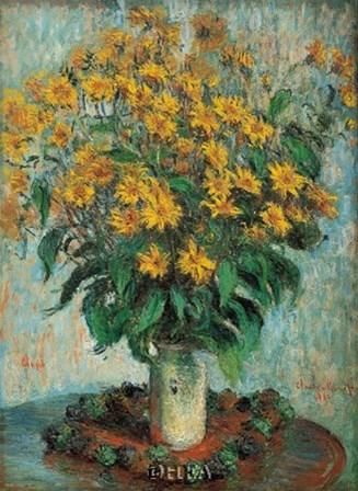 Vase of Chrysanthemums by Claude Monet art print