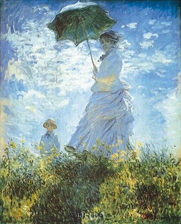 Madame Monet and Her Son by Claude Monet art print
