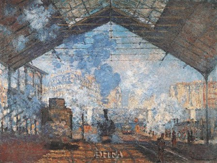 La Gare Saint-Lazare by Claude Monet art print