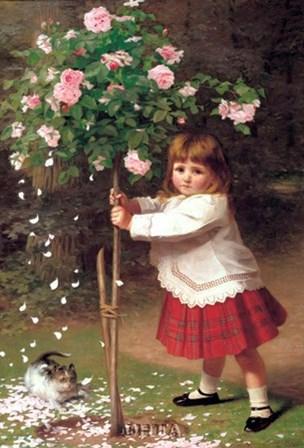 The Young Gardener by James Hayllar art print