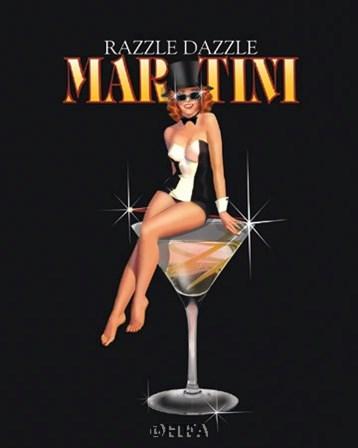 Razzle Dazzle Martini by Ralph Burch art print