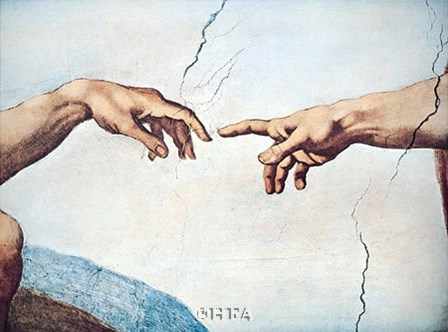 The Hands of God and Man by Michelangelo Buonarroti art print