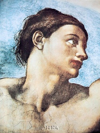 Head of Adam by Michelangelo Buonarroti art print