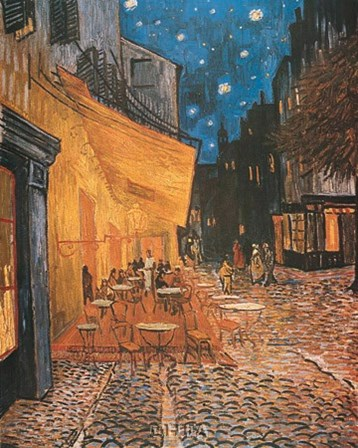 Open Air Cafe by Vincent Van Gogh art print
