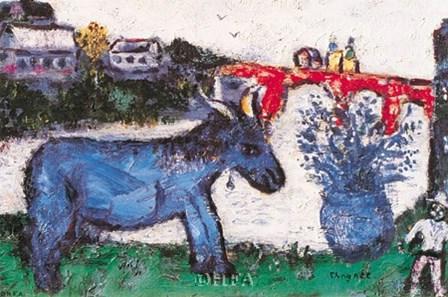 Blue Donkey by Marc Chagall art print