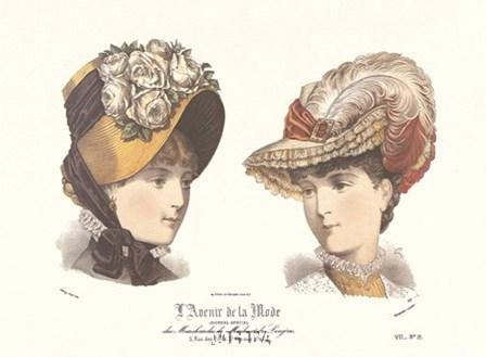 Les Chapeaux - l'Avenir de la Mode art print