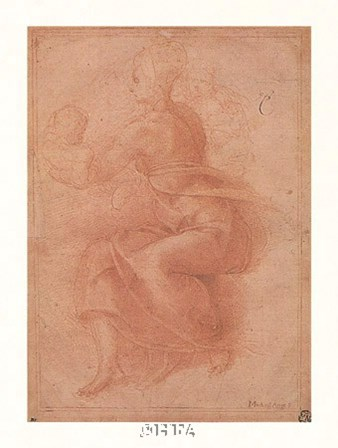 Seated Virgin Holding Child by Michelangelo Buonarroti art print
