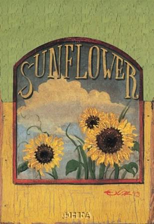 Three Sunflowers by Thomas LaDuke art print