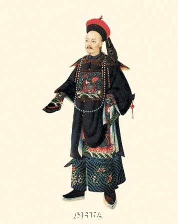 Chinese Mandarin Figure XII by 18th Century Chinese art print