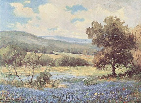 Fields of Blue by Robert Wood art print