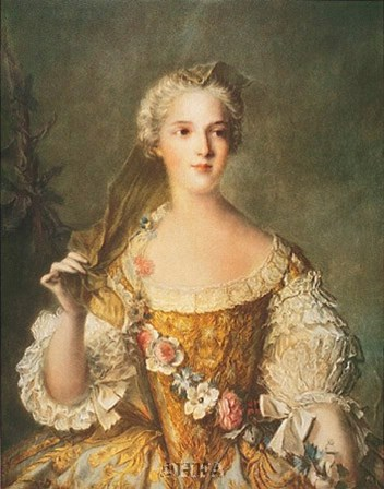 Madame Sophie de France by J.m. Nattier (d'apres) art print