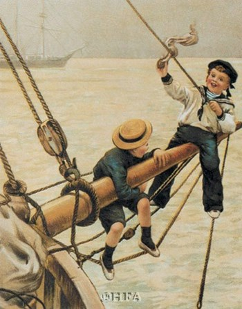 Jolly Little Sailor art print