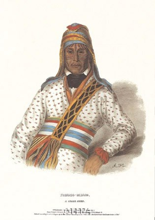 Yoholo-Micco, a Creek Chief by Mckenny & Hall art print