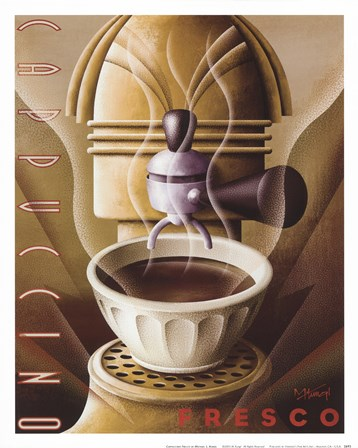 Cappuccino Fresco by Michael Kungl art print