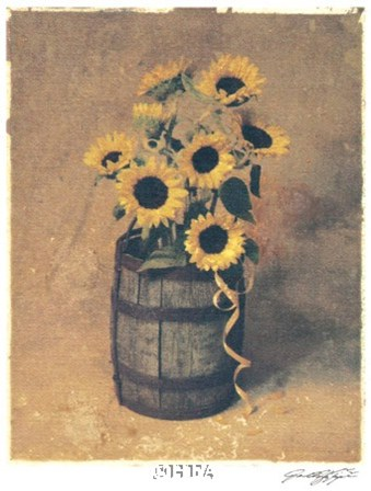 Nine Sunflowers by Julie Nightingale art print