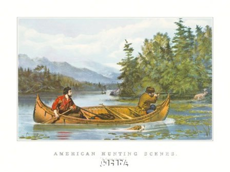 American Hunting Scenes by Currier and Ives art print
