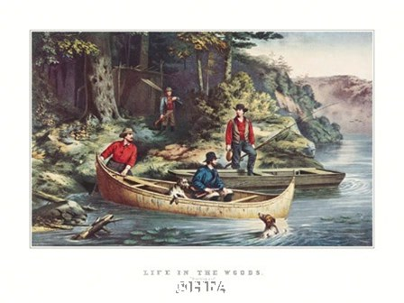 Life in the Woods by Currier and Ives art print