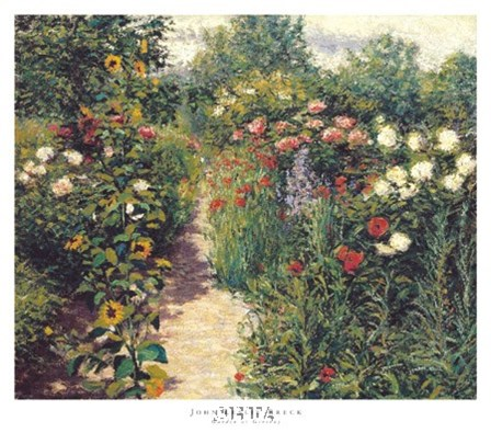 Garden at Giverny by John Leslie Breck art print