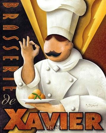 Brasserie de  Xavier by Michael Kungl art print