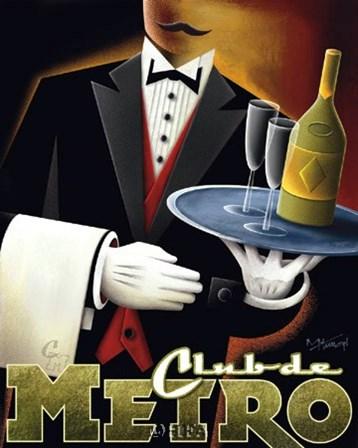 Club de Metro by Michael Kungl art print