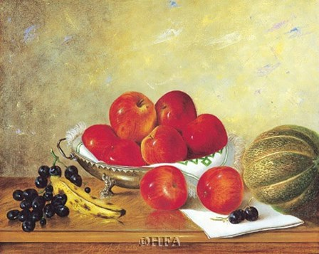 Still Life with Red Apples by William Galvez art print