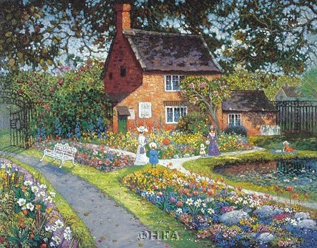 Entrance to a Park by Thelma leaney Butler art print
