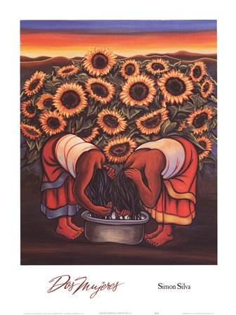 Dos Mujeres by Simon Silva art print