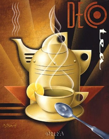 Deco Tea by Michael Kungl art print